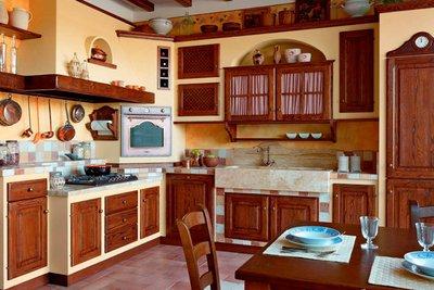 Угловые кухни фабрики Le Cucine Dei Mastri