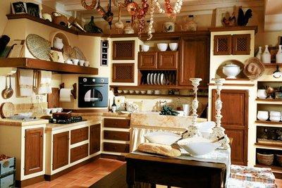 Тёмные кухни фабрики Le Cucine Dei Mastri